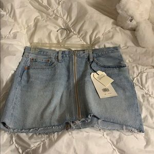 Deconstructed Levi's skirt